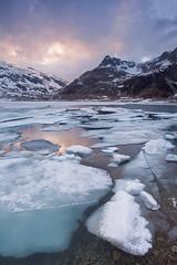 (Giordano Bertocchi) Tags: sunset italy lake ice landscape lago italia tramonto swiss melt svizzera lombardia paesaggio thaw ghiaccio lombardy montespluga disgelo passospluga stuetta