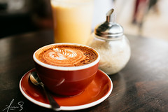 Cappuccino at Gnome Surry Hills (sachman75) Tags: coffee cafe gnome drink beverage sydney nsw newsouthwales innercity cappuccino surryhills latteart coffeeart sigma50mmf14 5dmark2 canon5dmarkii
