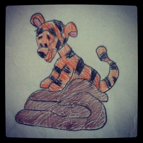 Tigger and Poo, from a practical joke played on a sixth grader about three years ago.