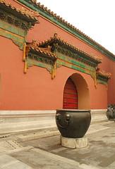 Bronze Pot, Forbidden City - Beijing, China. (Esther Spektor - Thanks for 12+millions views..) Tags: china door travel black green stone bronze buildings tile grey beijing palace pot ornament forbiddencity fed pedestal