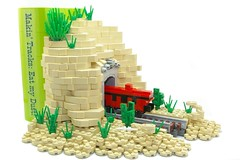 IMGP1860 (deborah higdon) Tags: cactus train desert lego engine tunnel books caboose locomotive bookends steamengine microscale