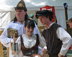 Nashville Improv Comedy Theater Trio at Tennessee Renaissance Faire (oldsouthvideo) Tags: costumes castle festival spring tn tennessee pirates may queen fairy armor taylor knight faire troll swift renaissance ik jousting regal triune tapestry 2012 fairie gwynn arrington