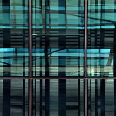 written in tartan (SteffenTuck) Tags: morning blue light window glass architecture reflections dark outside exterior contemporary melbourne cladding steffentuck easter2012