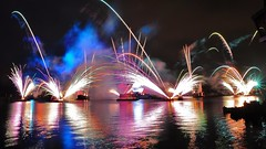 Disney World Epcot (wdwSteve) Tags: world christmas reflections epcot nikon fireworks sigma disney f28 d90 1750mm