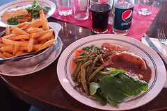 My dinner tonight (petrusko.rm) Tags: food chicken vegetables dinner pen french pepper four prime sauce olympus fries micro pancake thirds ep3 17mm m43 mft koppargrillen