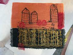 Corn No. 53 (kbaxterpackwood) Tags: plant thread rural painting botanical corn stitch natural embroidery farm machine fabric dye compost bundle eco 060412 aurifil