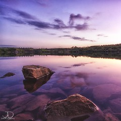 Stone Quarry Sunset (JD Photographie.) Tags: light sunset sky lake reflection art nature water colors stone clouds digital canon reflections de photography 1 julien amazing exposure raw photographie purple belgium belgique pierre atmosphere pit explore 200 100 jd nuages reflets qua