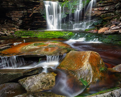 uno ([Adam Baker]) Tags: nature forest canon waterfall moss spring stream hiking wv cpl 1740l raing blackwaterfallsstatepark adambaker 5dmkii
