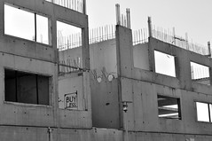(Steini789) Tags: bw building graffiti blackwhite construction unfinished consumerism buyless