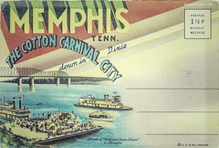 Memphis Tennessee (road_trippers) Tags: road city trip carnival vacation usa america vintage memphis tennessee postcard united visit explore trips states discover trippers