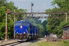 SVTX 1986 EVWR SS1 Carmi IL 09 Jun 2012 (Train Chaser) Tags: es44ac evansvillewestern savatrans svtx svtx1986 evwrss1