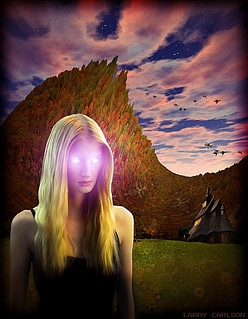 LARRY CARLSON, Eyes of Glow, c-print, 30x34in., 2009.