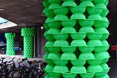 Southbank Stills: Colander columns (Sonali Campion) Tags: london art nikon southbank urbanart nationaltheatre culturalolympiad