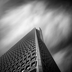 The Pyramid (Sebastian (sibbiblue)) Tags: sanfrancisco california longexposure blackandwhite bw usa film monochrome architecture analog group scan financialdistrict hasselblad filter hybrid redfilter 500cm f64 neutraldensity kodakd76 fujifilmacros nd110 8planar zeiss2