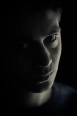 (Mahmoud_Roshdy) Tags: portrait cold contrast self canon dark 50mm egypt egyptian f18 18 50 550d t2i