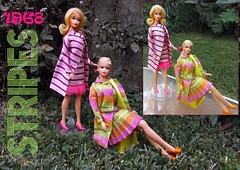 1968 STRIPES (ModBarbieLover) Tags: mod doll stacey stripes barbie 1968 tnt marlo