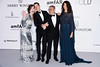 CAP D'ANTIBES, FRANCE - MAY 19: (L-R) amFAr Ambassador Milla Jovovich, Stefano Tonchi, Afef Jnifen and guest arrive at amfAR's 23rd Cinema Against AIDS Gala at Hotel du Cap-Eden