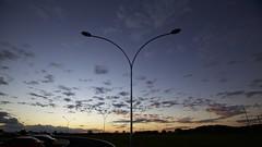 Sunset, Braslia (Francisco Arago) Tags: sunset pordosol brazil americalatina horizontal braslia brasil contraluz cores df dia paisagem panoramica nuvens urbana fotografia ceu horizonte fotografo distritofederal americadosul fimdetarde silhuetas centrooeste iluminaopblica linhadohorizonte postedeiluminao ceudebrasilia capitaldobrasil canon5dmkii franciscoarago canonlens1635mm projetotempo