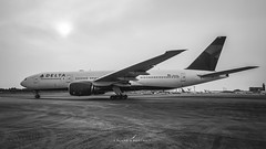 Delta Airlines B777-200 (a_planes_portrait) Tags: airplane aircraft airlines aviation avgeek airliners boeing b777 delta black photography planespotting planes photoshop plane