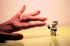 #21 For you... (DocChewbacca) Tags: flowers flower sexy scale fleurs giant toy miniature starwars hand lego finger nail tiny stormtrooper present minifig figurine mothersday fingertips minifigure fêtedesmères toyphotography