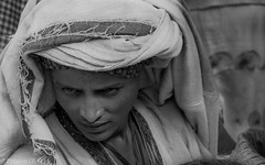 Attractive Features, (Woman in an Ethiopian Market) (Peraion) Tags: africa blackandwhite woman beauty face features shawl ethiopia regular