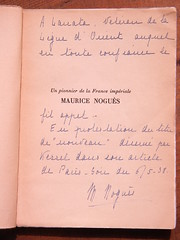 AIR ORIENT: LANATA's Book, flyleaf, dedication (afvintage) Tags: mauricenogues magdeleinenogues lignedorient josephkessel parissoir pionnier louislanata ddicace envoi dedication inscription