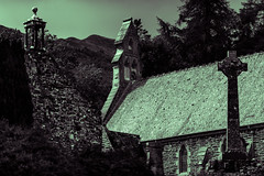 Balquhidder Church (alanmcilwraith) Tags: scotland balquhidder church black while