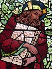 Moses (Granpic) Tags: window norfolk stainedglass moses vitrail cromer preraphaelite oldtestament cromerparishchurch norfolkchurch stpeterstpaulcromer vidreriadecolores