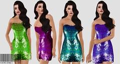 TS3 Sequin Dress (kareemzi) Tags: 3 fashion clothing dress mesh content cc download custom sim sims sequin simmer ts3 sims3 simblr ts3cc