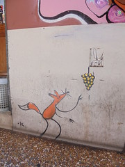 026 (en-ri) Tags: muro rabbit k wall writing graffiti giallo fox bologna uva arancione coniglio volpe