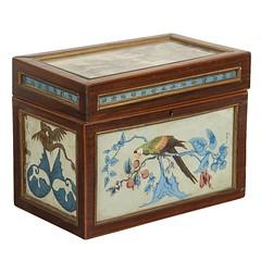 Rare Eglomise Tea Caddy (thehighboy) Tags: miami boxes antiques collectibles teacaddy decorativeobjects highboy decorativeaccessories eglomise