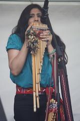 Bahareque (2016) 06 (KM's Live Music shots) Tags: bolivia shaker worldmusic siku panpipes bahareque handpercussion chajchas barkingfolkfestival vickicspedes abbeygreenbarking