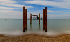 West Pier - Brighton (Aleem Yousaf) Tags: sea west english beach pier photo seaside support nikon brighton soft waterfront post outdoor walk destruction shell pebbles filter lee trust birch remains channel graduated d800 colums eugenius 1835mm