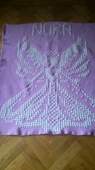 Angel blanket for Nora (dochol) Tags: chart cute angel handmade name ange crochet craft graph yarn homemade blanket afghan alphabet hook manta anjo babyblanket personalised croche crochethooks haakenwert woo