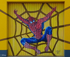 Spiderman (MacroManni) Tags: deutschland germany nrw rheinerftkreis bergheim thorr garagentor garagedoor comic spiderman art grafitty