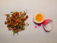 Vitamine und hochwertiges Eiwei. (remember moments) Tags: food cherry egg multiples ei vitamins protein accumulation kirschen cherrypit cherrystone dietmarvollmer kirschkerne