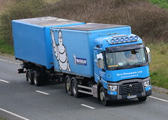 WX64CCE - Tyre Renewals-001 (TT TRUCK PHOTOS) Tags: a303 bourton tt tyre renewals renault t drawbar