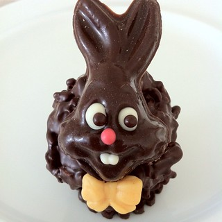 Chocolate Easter Bunny @ Home