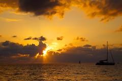 Sunset in Negril (picaddict) Tags: sunset strand sonnenuntergang jamaica segelschiff negril klippenspringer