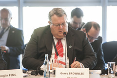 Gerry Brownlee participates in the Ministers' Roundtable at the Congress Center Leipzig
