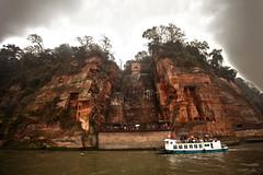 CHINA Leshan Sichuan province Giant Buddha stone sculpture facing Mount Emei  2418 AJ20