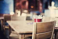 it's sunday evening full-frame dinner-time [Explore FP] (Maegondo) Tags: wood city urban dinner canon germany table lunch bayern deutschland bavaria eos 50mm restaurant chair dof bokeh 14 sunday lifestyle depthoffield ingolstadt sausalitos 5dmk2