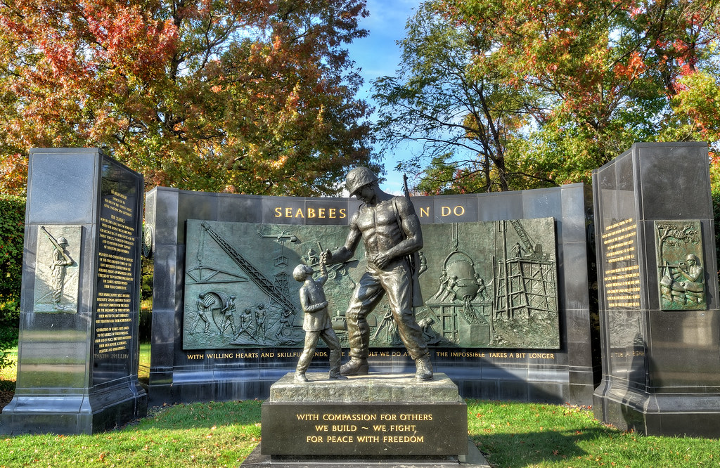 Seabee Memorial in Arlington, Virginia