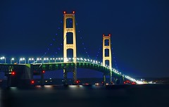 """Lite it Blue"" Mackinac Bridge - Mackinaw City, Michigan (Michigan autism-awareness campaign) (Michigan Nut) Tags: longexposure nightphotography usa midwest michigan suspensionbridge mackinacbridge mackinawcity johnmccormick michigannutphotography autismawarenesscampaign liteitblue"