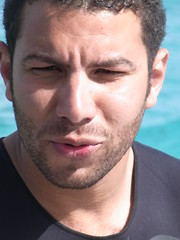 Pensive Ahmed (Ottmar H.) Tags: hair bay egypt hunk diver ahmed gypten makadi extradivers