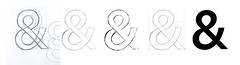 Ampersand Workflow (Ben Mitchell2009) Tags: drawing path curves font vector bezier typeface ampersand typedesign