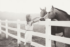 Horses (Danielle Pearce) Tags: sunset horses white black girl canon fence mark country ii 5d