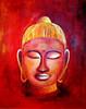 Buddha (Acrylbilder) Tags: rot kunst modernekunst malerei acrylfarben exklusiv acrylgemälde dorispohl