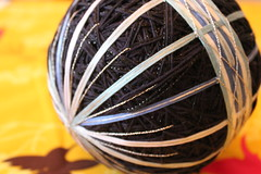 Temari (crayonmonkey) Tags: blue geometric ball japanese stitch embroidery craft wrap cotton embroidered temari