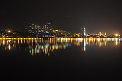 lungo lago di lecco (Jocker 83) Tags: italy lake night boats lago nikon italia view barche citylights vista nightview lombardia notte lecco notturno comolake lagodicomo valmadrera d90 romanticview vistanotturna leccocity